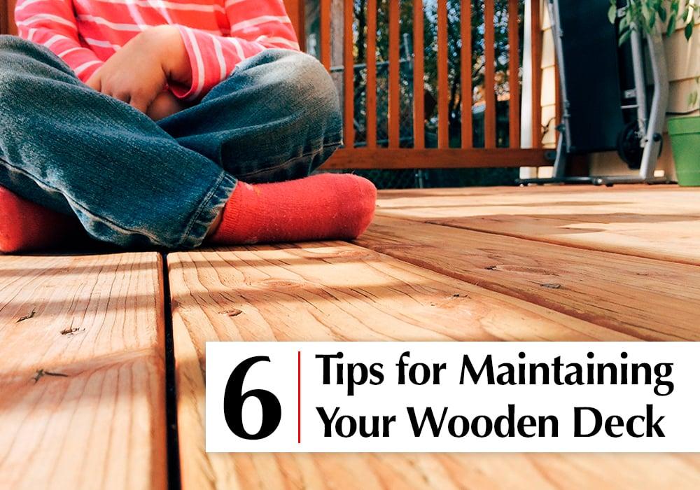 Wood deck maintenance